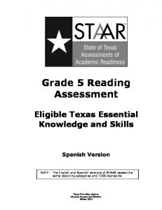 Grade 5 Reading Assessment