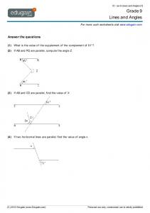 Grade 9 Lines and Angles