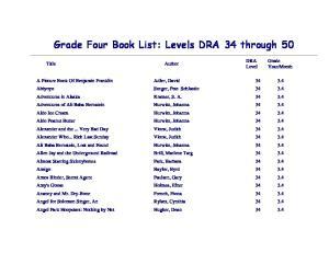 Grade Four Book List: Levels DRA 34 through 50