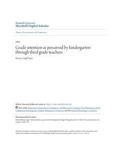Grade retention as perceived by kindergarten through third grade teachers