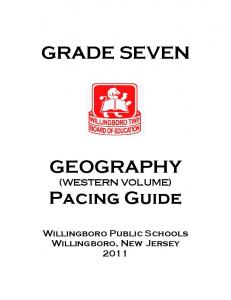 GRADE SEVEN GEOGRAPHY. (WESTERN VOLUME) Pacing Guide
