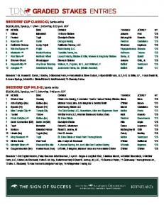 GRADED STAKES ENTRIES