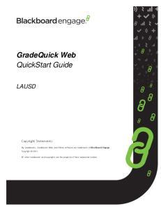 GradeQuick Web QuickStart Guide