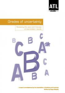 Grades of uncertainty
