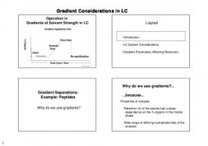 Gradient Considerations in LC