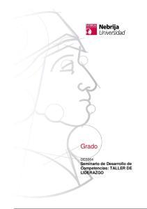 Grado. DES064 Seminario de Desarrollo de Competencias: TALLER DE LIDERAZGO