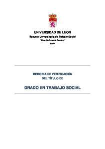 GRADO EN TRABAJO SOCIAL