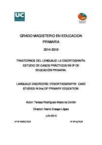 GRADO MAGISTERIO EN EDUCACION PRIMARIA