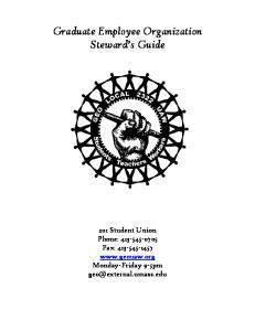 Graduate Employee Organization Steward s Guide