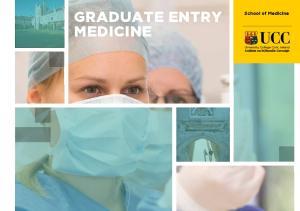 GRADUATE ENTRY MEDICINE. School of Medicine