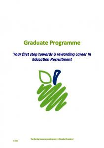 Graduate Programme V2: Your first step towards a rewarding career in Education Recruitment