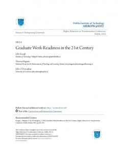 Graduate Work-Readiness in the 21st Century