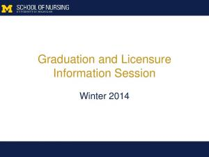 Graduation and Licensure Information Session. Winter 2014