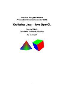 Grafisches Java - Java OpenGL