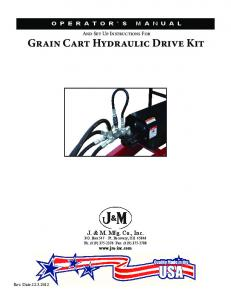 Grain Cart Hydraulic Drive Kit