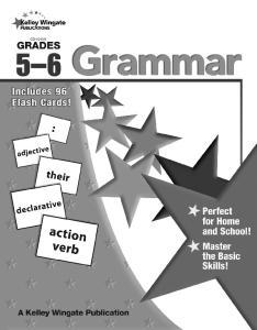 Grammar: Grades 5 6. Table of Contents
