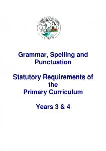 Grammar, Spelling and Punctuation