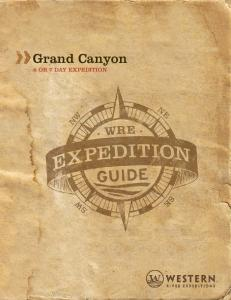 Grand Canyon 6 OR 7 DAY EXPEDITION