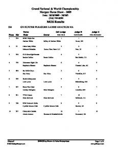 Grand National & World Championship Morgan Horse Show (316) MOS Results