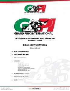 GRAND PRIX INTERNATIONAL WING S ARMY ESTADIO CHIVAS