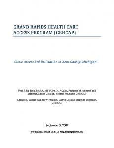 GRAND RAPIDS HEALTH CARE ACCESS PROGRAM (GRHCAP)