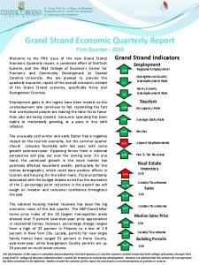 Grand Strand Economic Quarterly Report First Quarter