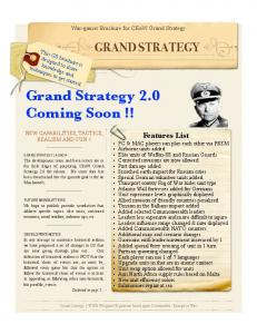Grand Strategy 2.0 Coming Soon!!