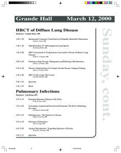 Grande Hall March 12, :00 1:20 International Consensus Classification of Idiopathic Interstitital Pneumonias David A