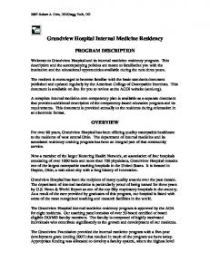 Grandview Hospital Internal Medicine Residency