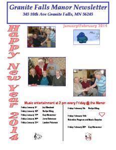 Granite Falls Manor Newsletter th Ave Granite Falls, MN 56245