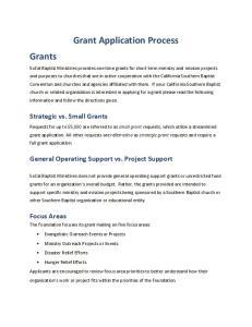 Grant Application Process Grants