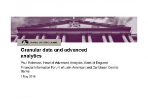 Granular data and advanced analytics