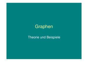 Graphen. Theorie und Beispiele