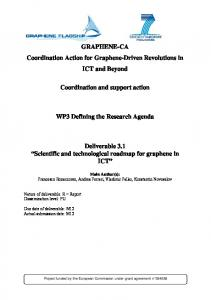 GRAPHENE-CA Coordination Action for Graphene-Driven Revolutions in ICT and Beyond. Coordination and support action. WP3 Defining the Research Agenda