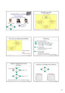 Graphentheorie und ihre Anwendungen in Wissenschaft und Technik