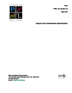 Graphic Arts Conformance Specification