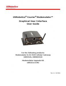 Graphical User Interface User Guide