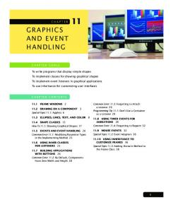GRAPHICS AND EVENT HANDLING