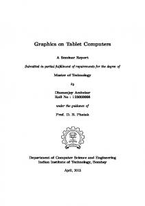 Graphics on Tablet Computers