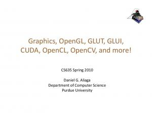 Graphics, OpenGL, GLUT, GLUI,