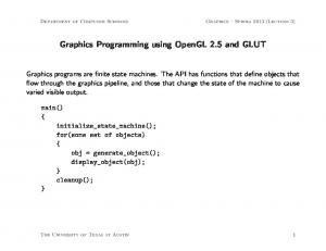 Graphics Programming using OpenGL 2.5 and GLUT