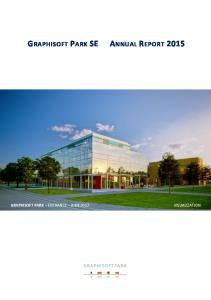 GRAPHISOFT PARK SE ANNUAL REPORT 2015