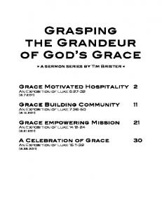 Grasping the Grandeur of God s Grace