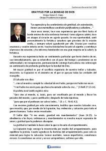 GRATITUD POR LA BONDAD DE DIOS Obispo Robert D. Hales Obispo Presidente de la Iglesia