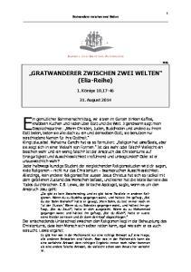 GRATWANDERER ZWISCHEN ZWEI WELTEN (Elia-Reihe)