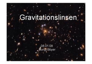 Gravitationslinsen Sonja Boyer