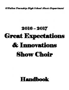 Great Expectations & Innovations Show Choir