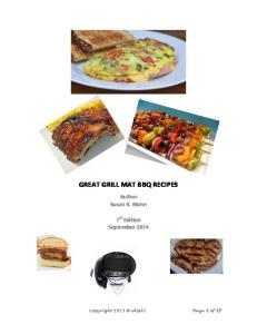 GREAT GRILL MAT BBQ RECIPES