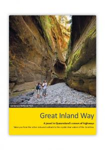 Great Inland Way. A jewel in Queensland s crown of highways. Takes you from the ochre coloured outback to the crystal clear waters of the Coral Sea