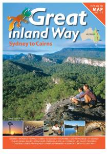 Great. Inland Way. Sydney to Cairns M A P